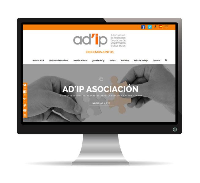 Diseño web para Ad'ip Asociación
