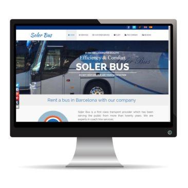 Diseño web para Soler Bus, Barcelona